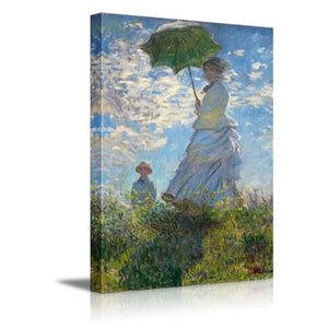"Madame Monet and Her Son Canvas Prints Wall Art 16"" x 24"" - EK CHIC HOME"
