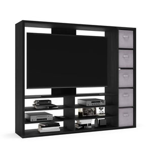 "Entertainment Center for TVs up to 55"", Ideal TV Stand - EK CHIC HOME"