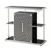 Load image into Gallery viewer, Contemporary Bar Unit, Glossy Black - EK CHIC HOME