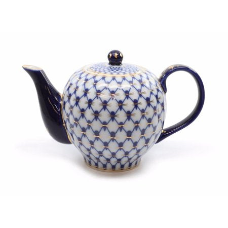 Royalty Porcelain Medium Teapot, Russian Pattern - EK CHIC HOME