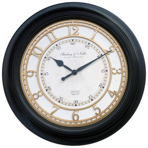 "Modern 28"" Black Traditional Wall Clock - EK CHIC HOME"