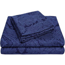 Load image into Gallery viewer, 600 Thread Count Wrinkle-Resistant Luxury Cotton Italian Paisley Sheet Set - EK CHIC HOME