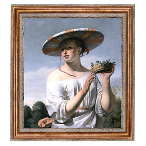 Toscano Girl 1645 Framed Painting Print on Canvas - EK CHIC HOME