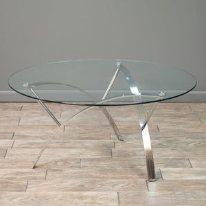 Noble Round Glass Coffee Table - EK CHIC HOME