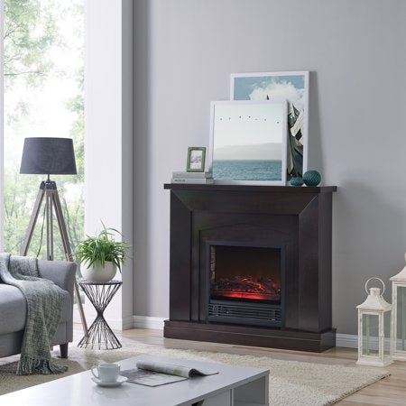47 inch Electric Fireplace Heater in Dark Chocolate - EK CHIC HOME