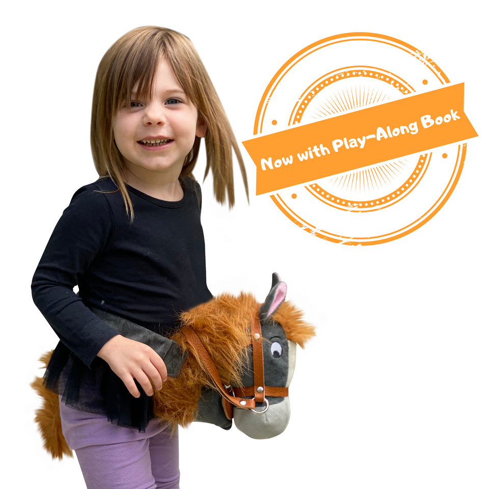 Papap Pony handsfree hobby horse and children's book
