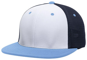 GORRA BÉISBOL ES341 M2 TRUCKER FLEXIBLE ®_Blanco / Navy / Celeste_XS_sports zona