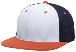 GORRA BÉISBOL ES341 M2 TRUCKER FLEXIBLE ®_Blanco / Navy / Naranja_XS_sports zona