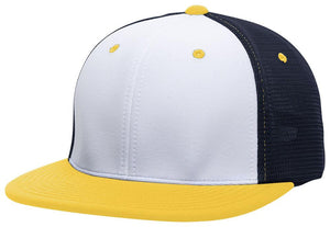 GORRA BÉISBOL ES341 M2 TRUCKER FLEXIBLE ®_Blanco / Navy / Oro_XS_sports zona