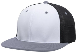 GORRA BÉISBOL ES341 M2 TRUCKER FLEXIBLE ®_Blanco / Negro / Grafito_XS_sports zona
