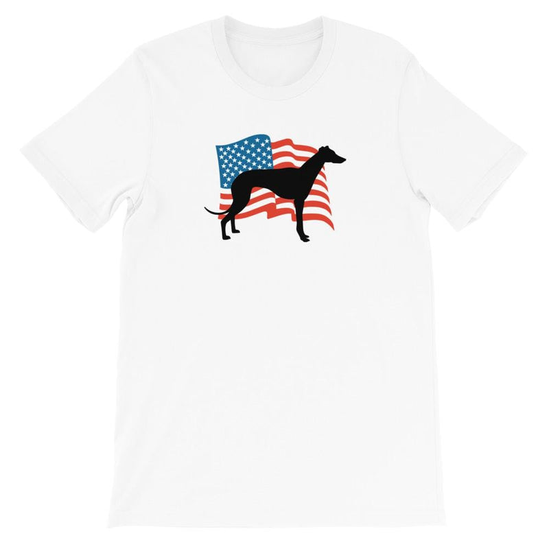 USA Flag Greyhound Unisex T-Shirt