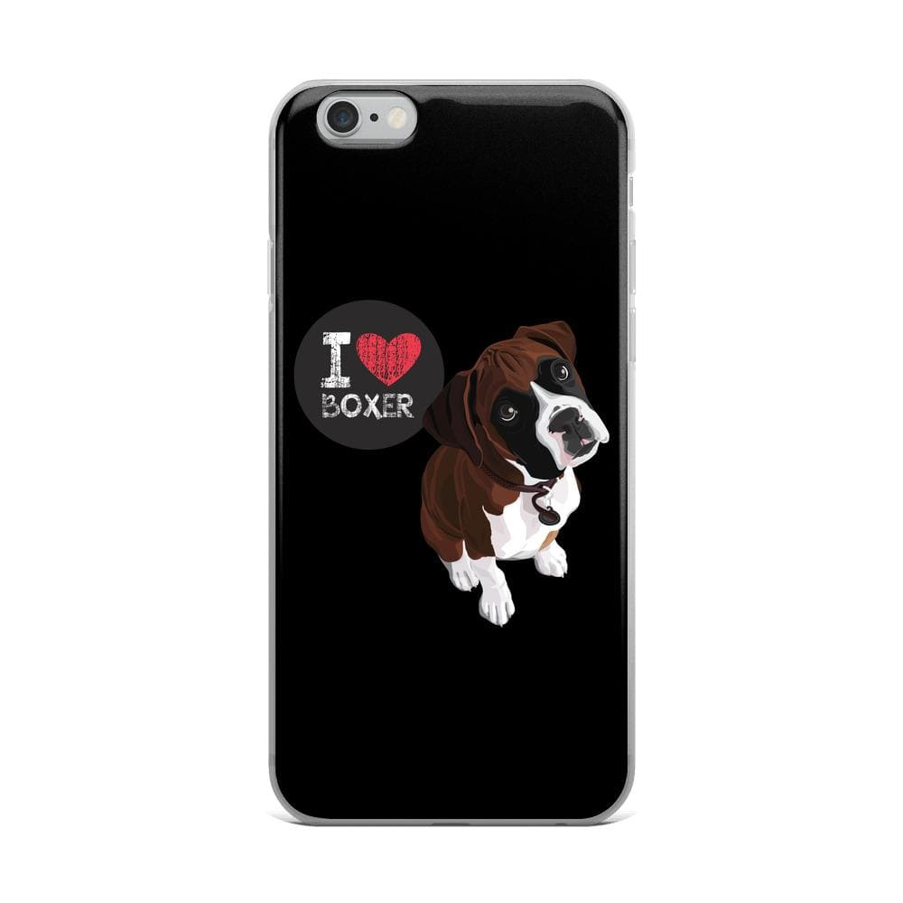 I Love Boxer iPhone Case