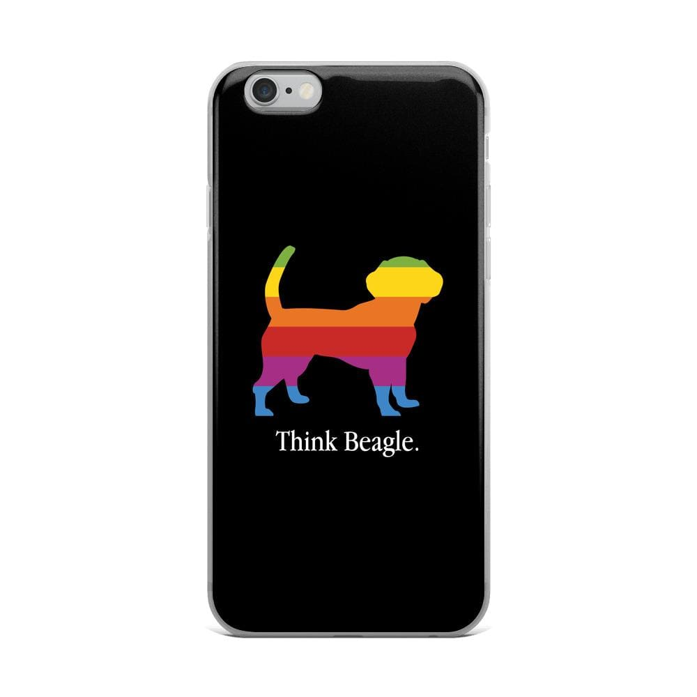 Think Beagle iPhone Case