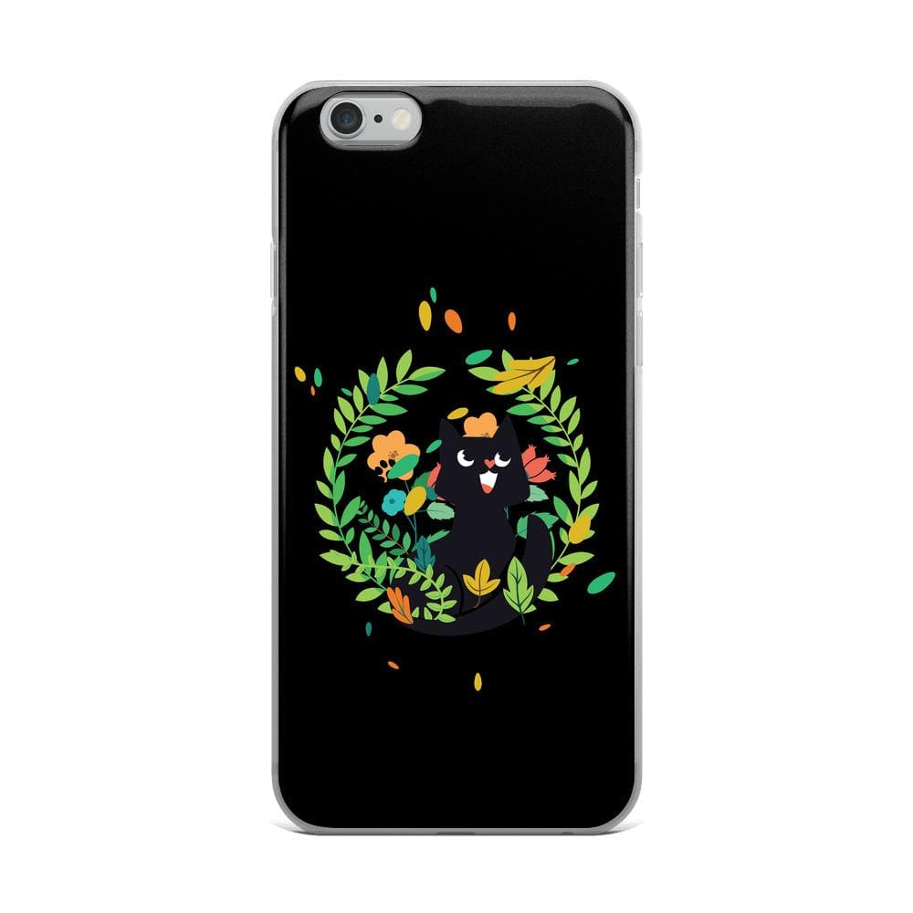 Sweet Cat Floral iPhone Case