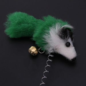 Elastic Feather False Mouse Cat Toy