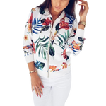 White Floral Jacket