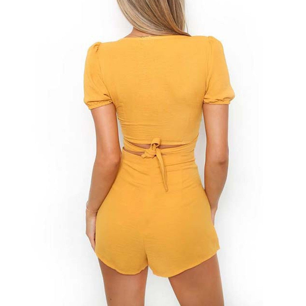 Yellow Slim Summer Set