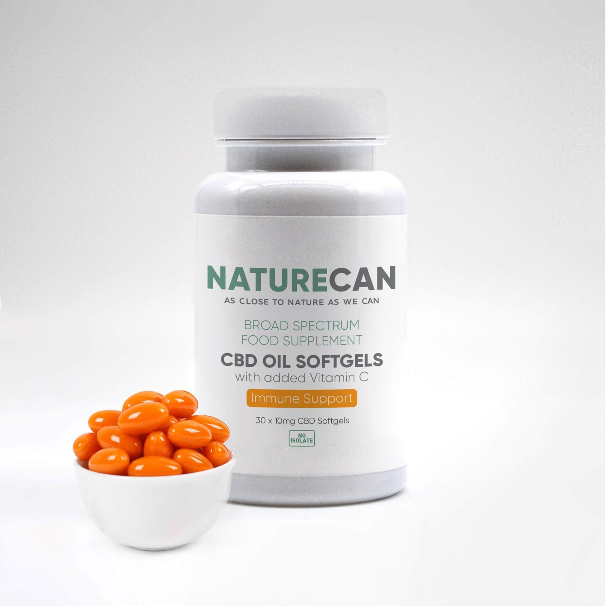 CBD Softgel kapsule s vitaminom C