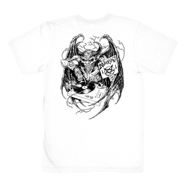 20 BUCK SPIN - DEATH MENTAL LOGO T-SHIRT WHITE