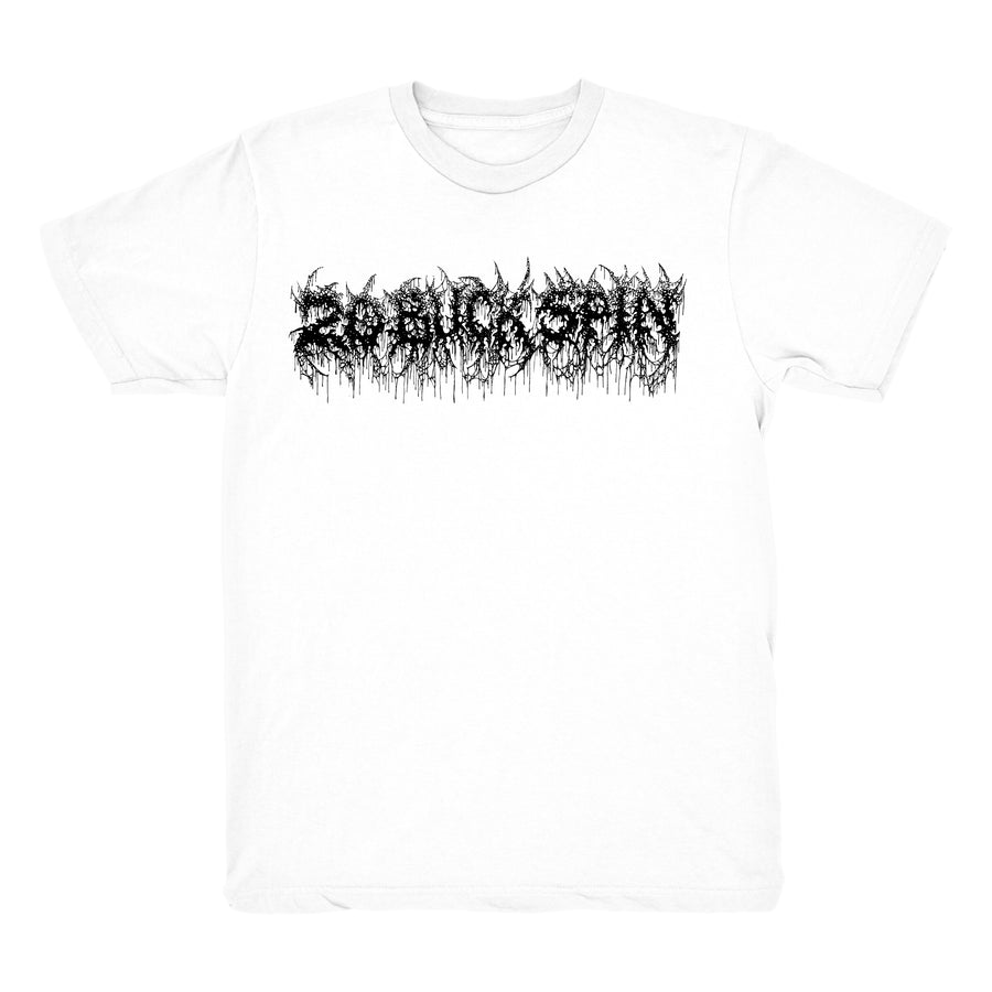 ebbb8c091 20 BUCK SPIN - DEATH MENTAL LOGO T-SHIRT WHITE