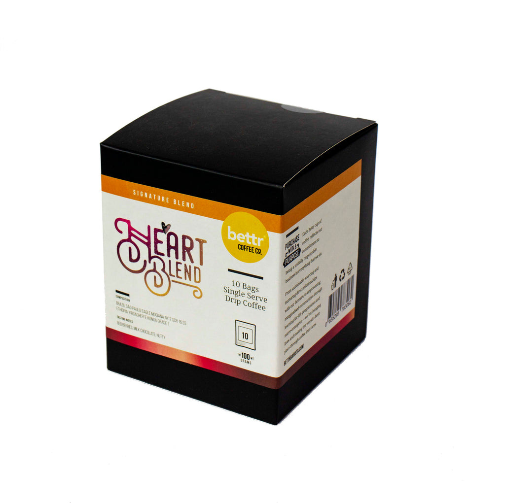 Heart Blend - Single Drip Coffee (Box of 10)
