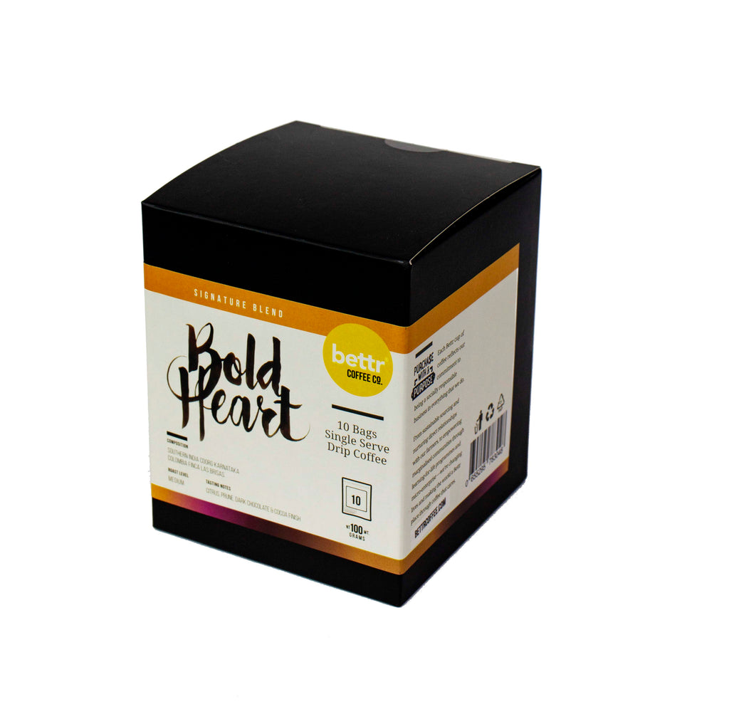 Bold Heart - Single Drip Coffee (Box of 10)