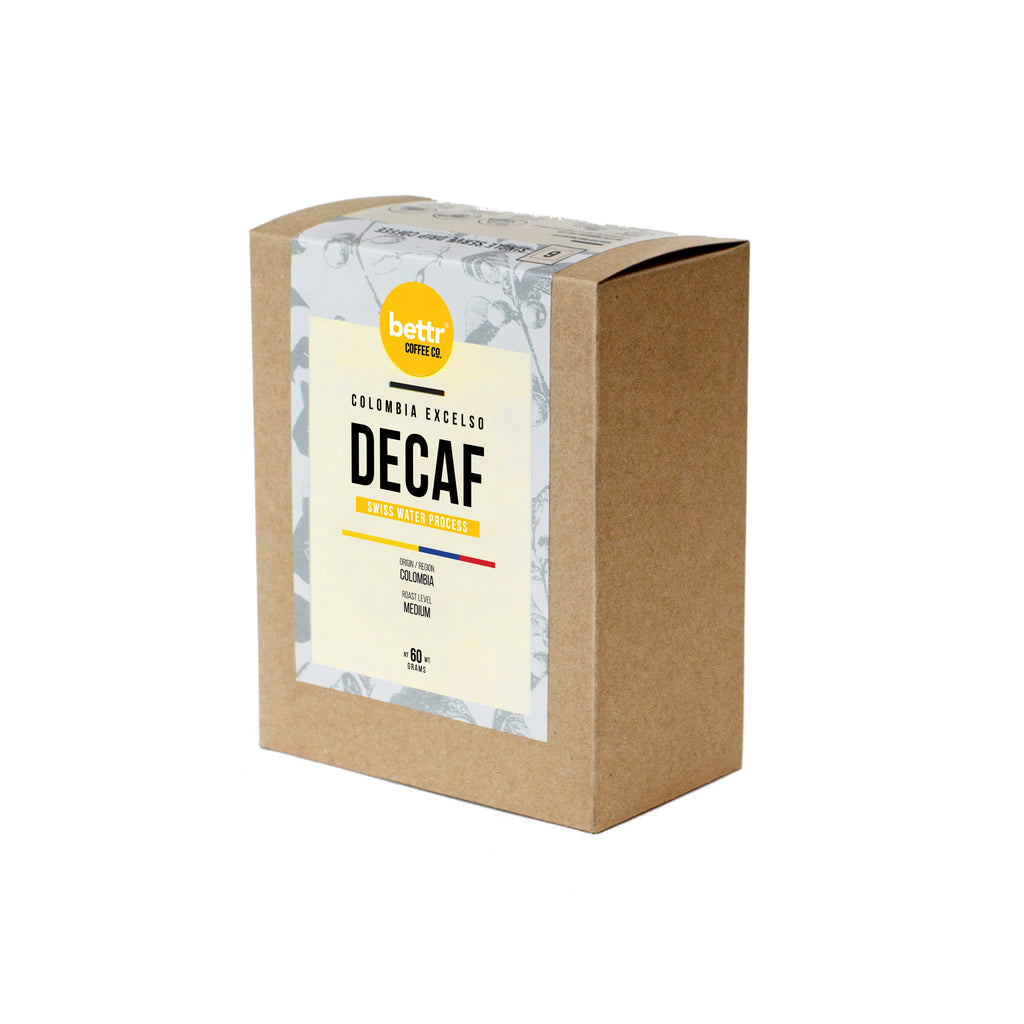 Colombia Excelso Decaf SWP - Single Drip Coffee (Box of 6)
