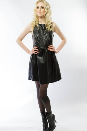 Laser Cut Out Dress, Tops - Style Dirty