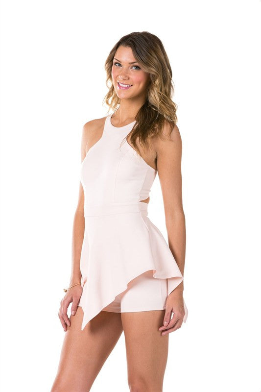 Soft Pink Romper, Bottoms - Style Dirty