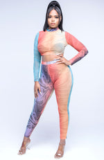 Chill Vibes Sheer Two Piece Pants Set