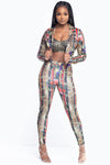 Love And Chains Two Piece Jacket And Pants Set