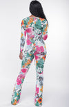 Molly Floral Cut-out Jumpsuit
