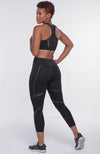 Emory Sheer Black Two Piece Activewear Set