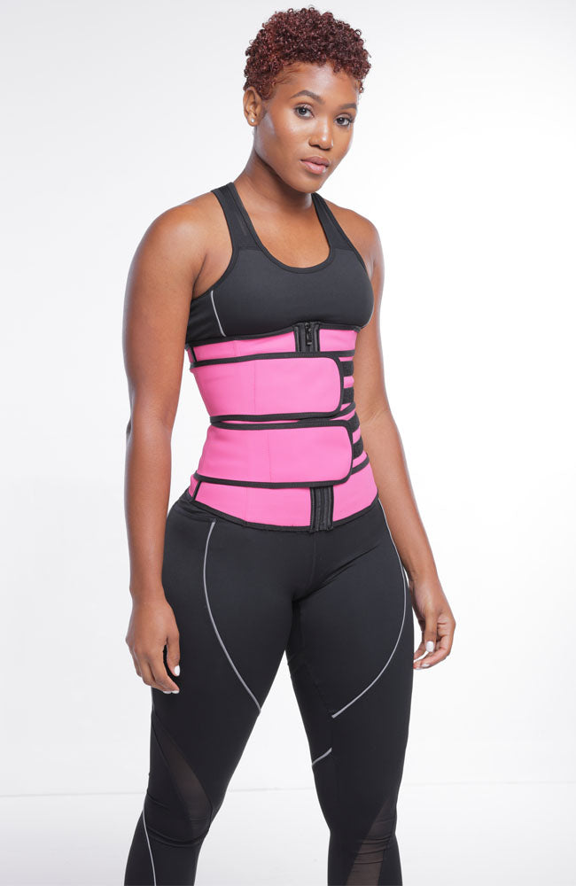 Waist Trainer Tummy Firm Control Shaper With Abdominal Slimming Belt - New