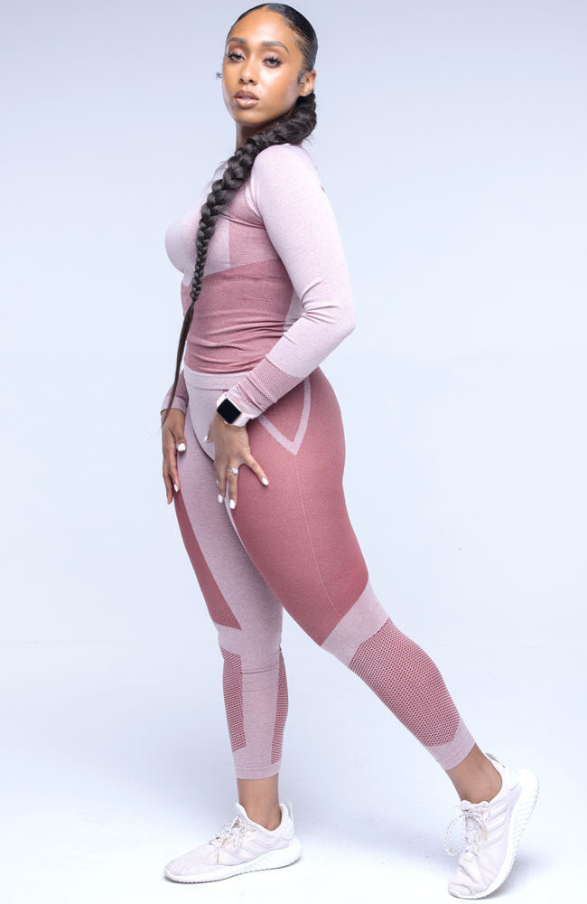 Pink Stay Active Two Piece Long Sleeve Pants Set