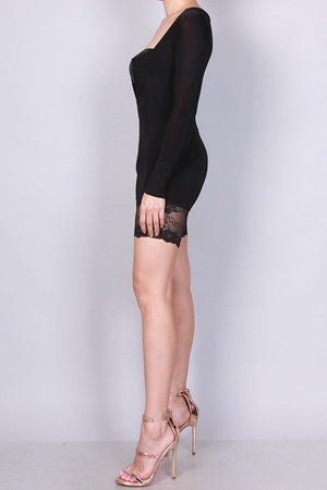 Tammy Black Romper, Bottoms - Style Dirty