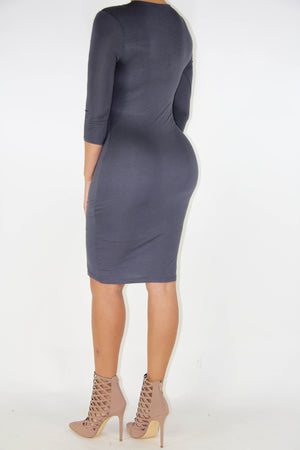 Steel Grey Dress, Dress - Style Dirty