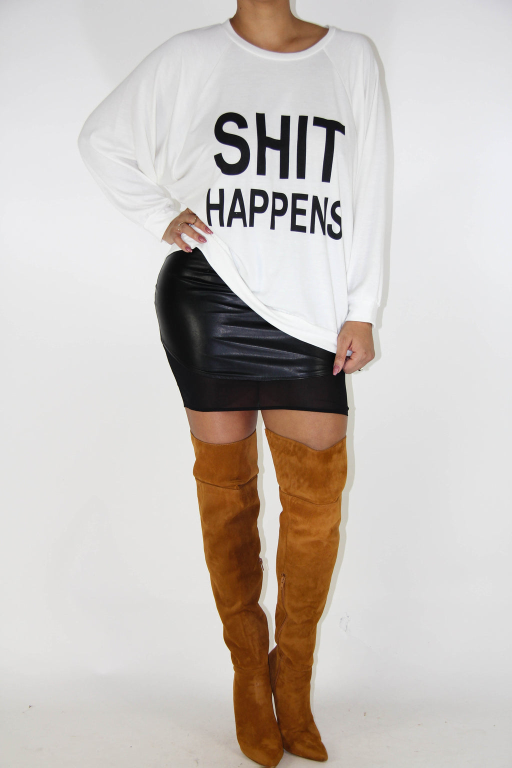 Shit Happens! Sweatshirt, Tops - Style Dirty