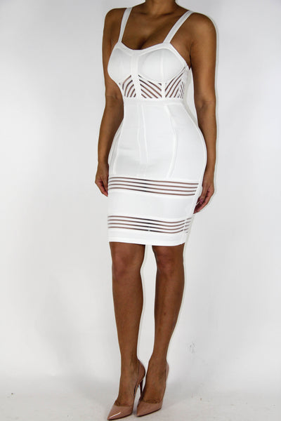 White Bodycon Dress, Dress - Style Dirty