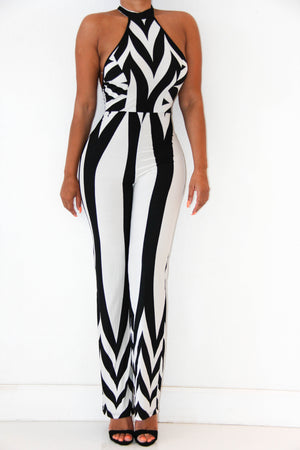 Modern Zebra Jumpsuit, Bottoms - Style Dirty