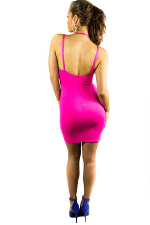Electric Pink Dress, Dress - Style Dirty