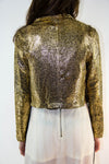Golden Crop Blazer, Tops - Style Dirty