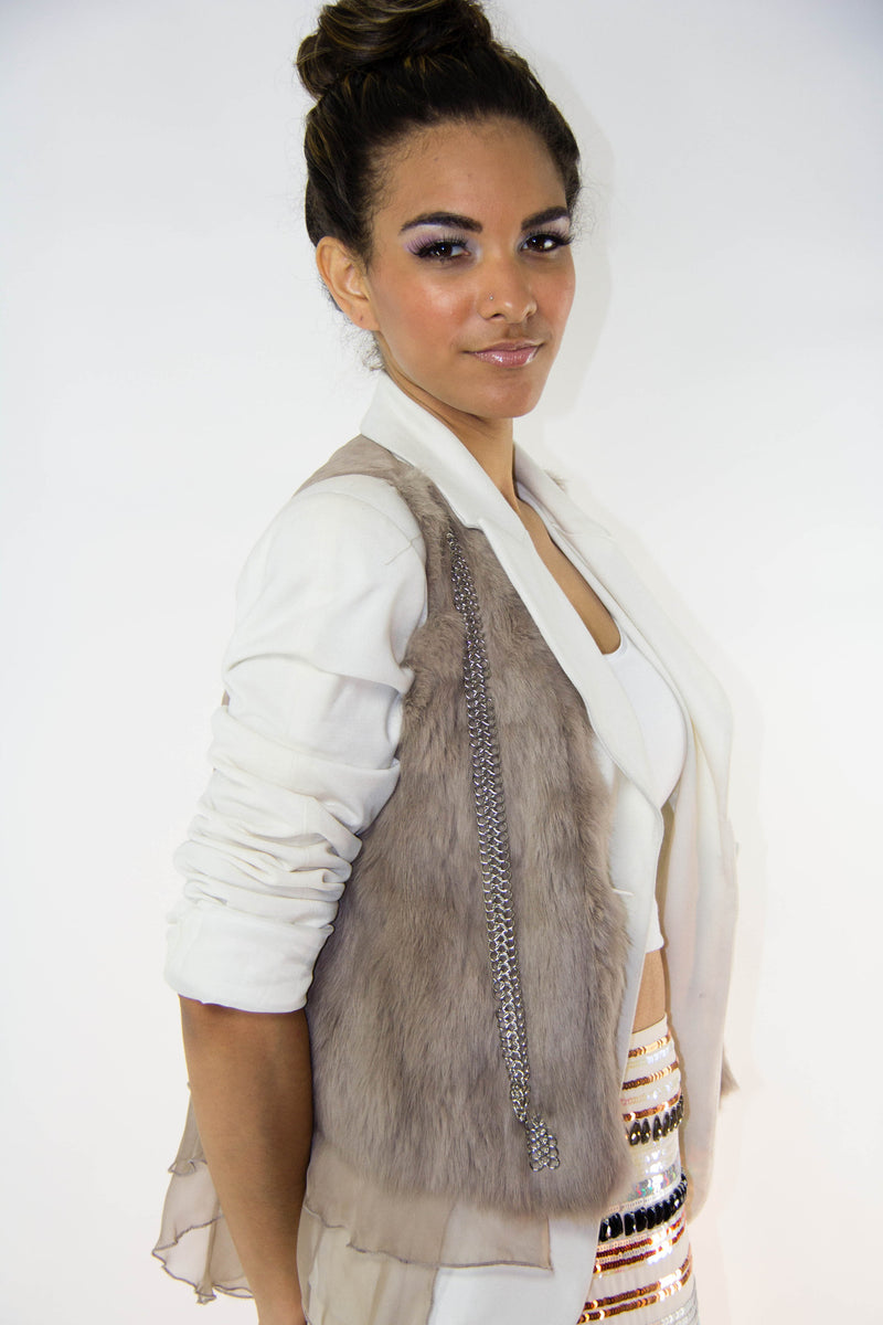Mocha Fur Vest, Tops - Style Dirty