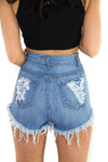 Foxy High Waist Shorts, Bottoms - Style Dirty
