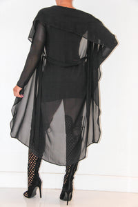 Sheer Seduction Trench Coat, Tops - Style Dirty