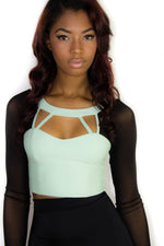 Sea Sheer Crop, Tops - Style Dirty