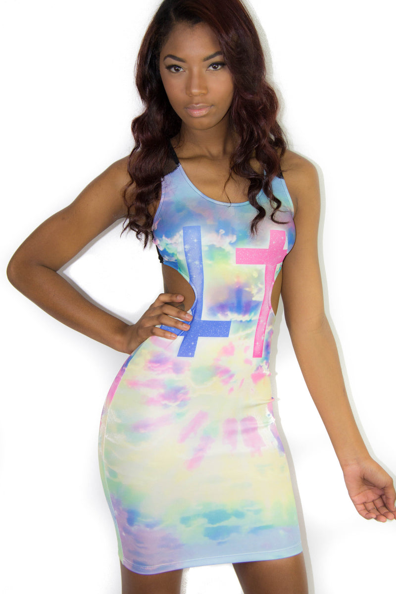 Neon Cross Dress, Dress - Style Dirty