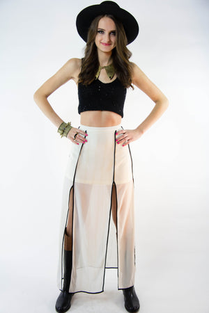 Double Split Skirt, Bottoms - Style Dirty