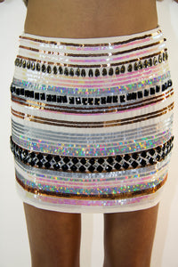 Sequin Snow White Skirt, Bottoms - Style Dirty