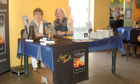 Fort Worth authors Susan Howell and Patsy Doris Hale at the Arlington Heights HIgh School Class of 1960 Fundraiser